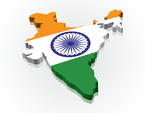 India Flag Map: International Trade Connect
