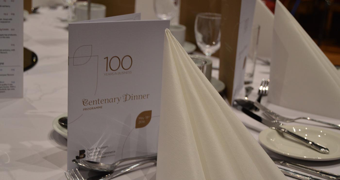 Centernery Dinner - Lancashire Chamber